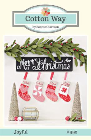 Joyful Stocking Ornaments Pattern (CW 990) Cotton Way