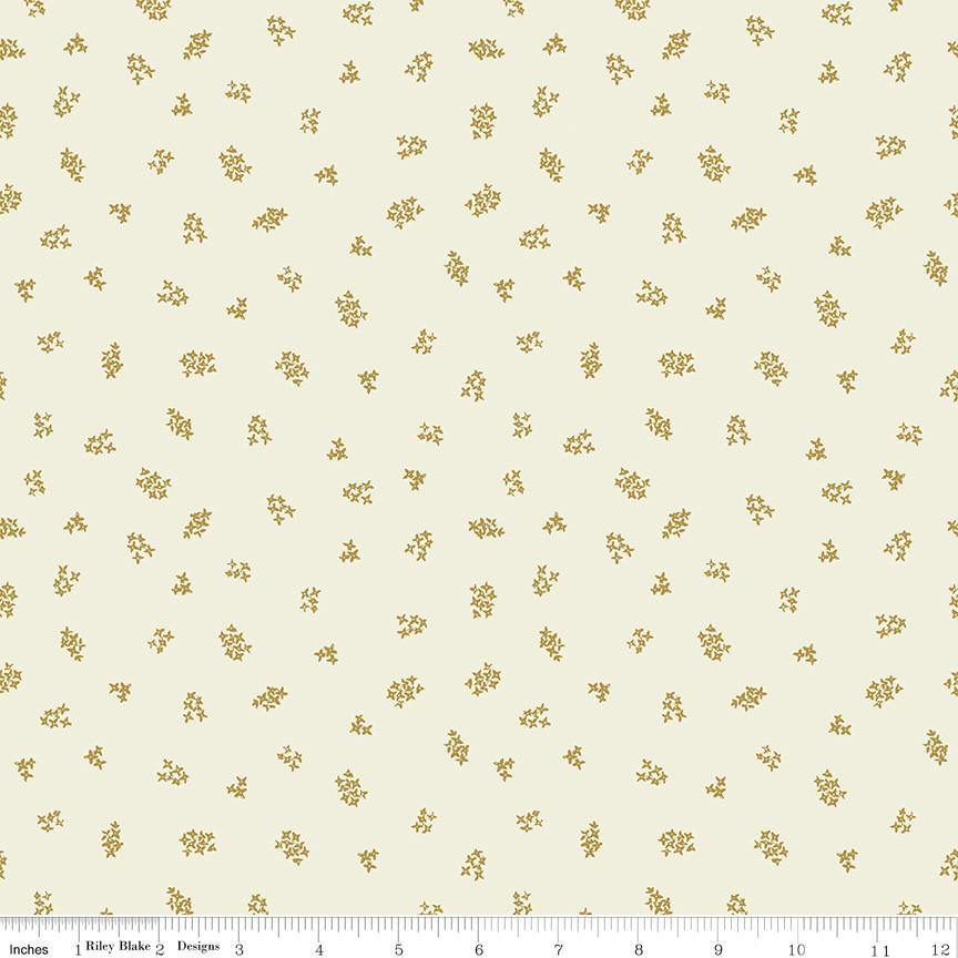 Faith, Hope & Love Antique Gold Blossoms Yardage | SKU #C10326-ANTIQUE - Stitches n Giggles