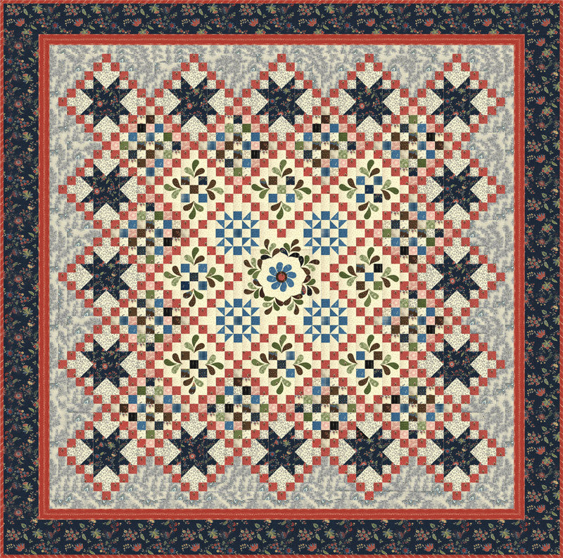 Round About Quilt Kit featuring Elinore's Endeavor by Betsy Chutchian