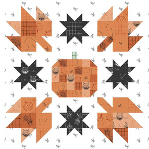 "Pumpkin Mini Quilt Pattern by Amanda Niederhauser (P156-PUMPKINMINI) - Finished size: 26"" x 26"" - Layer Cake Friendly!"
