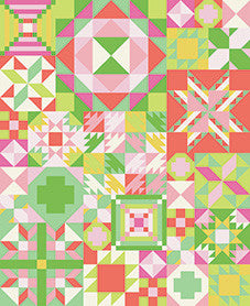 PRESALE My Favorite Color is Moda Quilt Kit - Primrose Garden Colorway