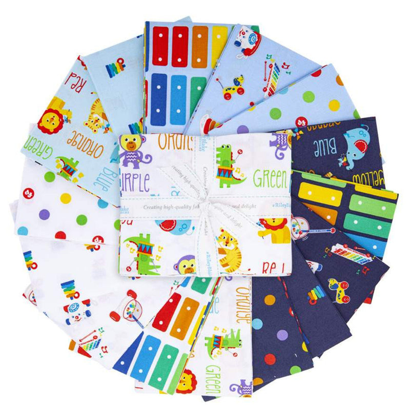 Fisher Price Fat Quarter Bundle by  Riley Blake Designs (FQ-9760-15)