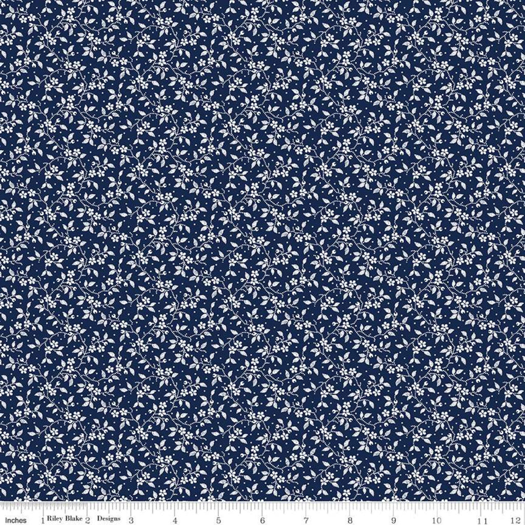 Delightful Navy Vines Yardage (C10257 NAVY)