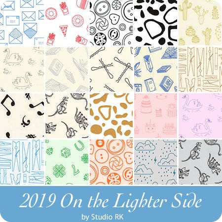 On The Lighter Side Ivory Swans Yardage (19203-15) - Cut Options Available