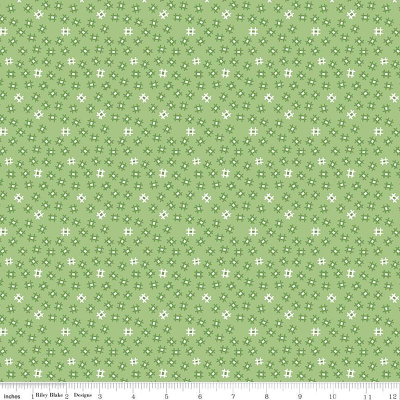 Prim Granny Apple Churn Dash Yardage (C9695 GRANNYAPPLE)