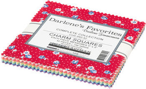 Darlene's Favorites Charm Squares - 42 pieces