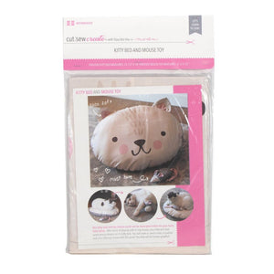 Kitty Bed and Mouse Toy Cut, Sew, Create Panel by Stacy Iest Hsu - Perfect Sewing Projects for Beginners and Children!