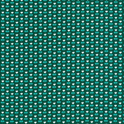 Library Teal Tulip Yardage 19082 213