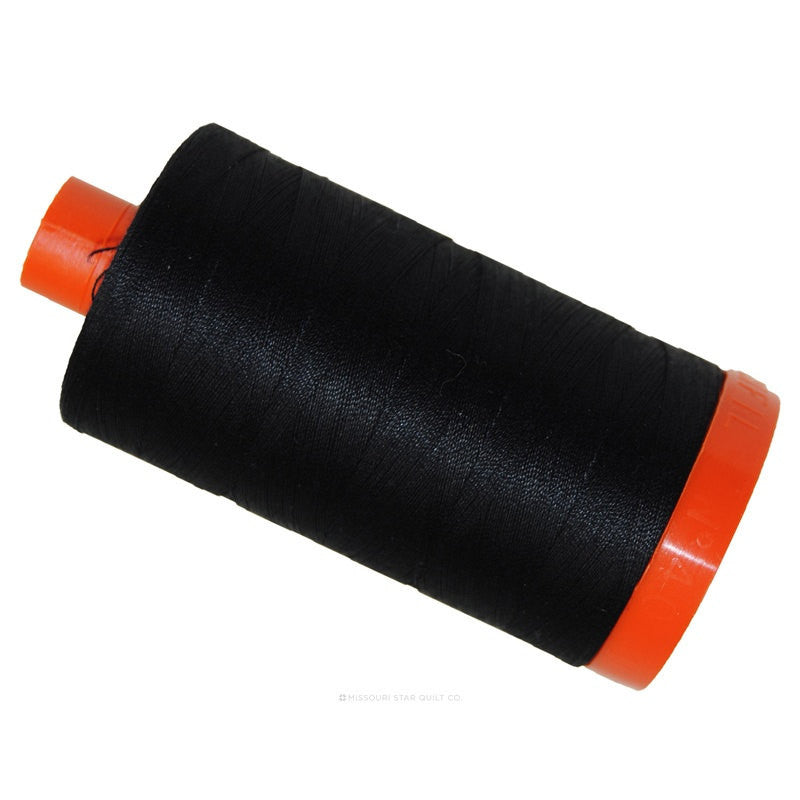 MK50 2692 - Black - Aurifil Cotton Thread Large Spool (1422 yds)- Quilting / Sewing Thread - Aurifil Thread