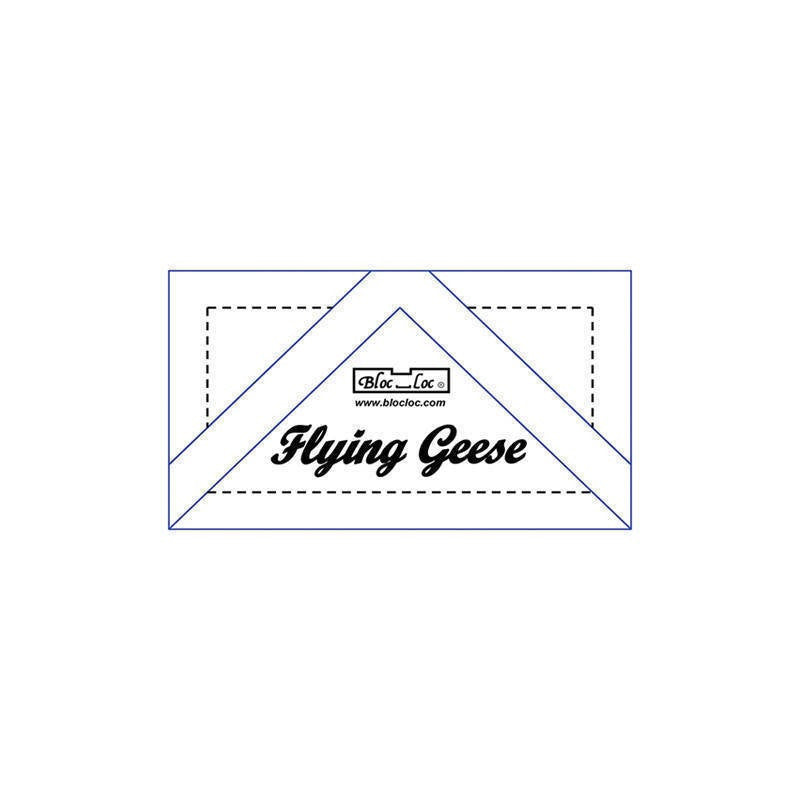 "Bloc Loc - Flying Geese Ruler 7/8"" x 1 3/4"" - Quilting Tool"
