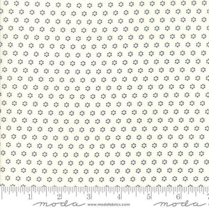 All Hallows Eve Ghost MIdnight Polka Dot Circles Yardage by Fig Tree (20354 27) - Stitches n Giggles