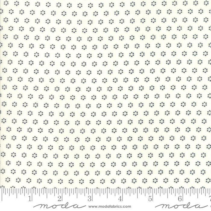 All Hallows Eve Ghost MIdnight Polka Dot Circles Yardage by Fig Tree (20354 27)