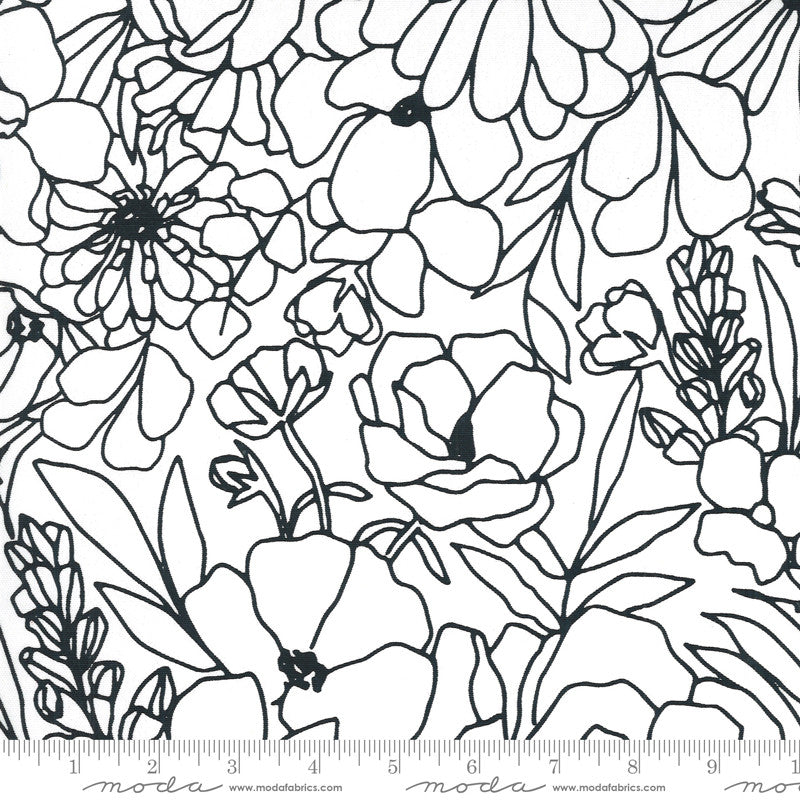 Illustrations Canvas Modern Florals Paper Yardage | SKU #11507-15CV