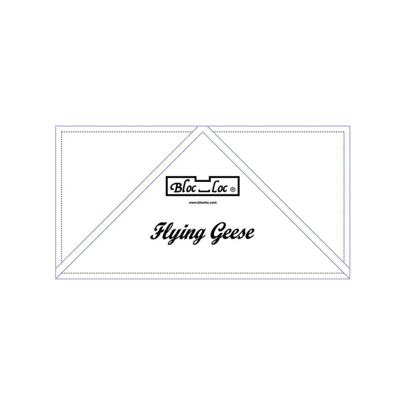 "Bloc Loc Flying Geese Ruler  3"" x 6"" - Quilting Tool"