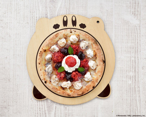 Kirby Cafe's authentic oven-baked pizza - Berry Berry White Chocolate: