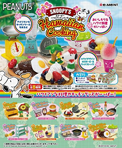 Snoopy  Hawaiian Cooking BOX - Re-Ment