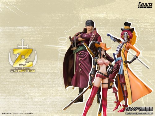 One Piece, Figuarts ZERO ONE PIECE FILM Z Battle clothing Ver. Set (Zoro Robin Brooke)