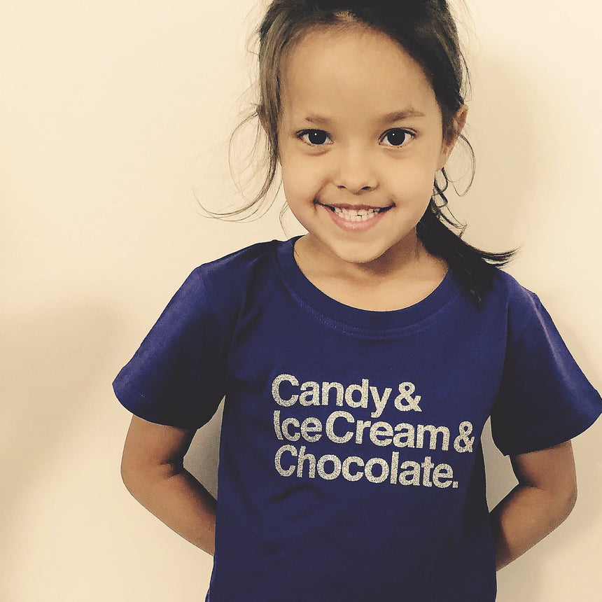 Kid's T-Shirt - Candy & Ice Cream & Chocolate - Purple