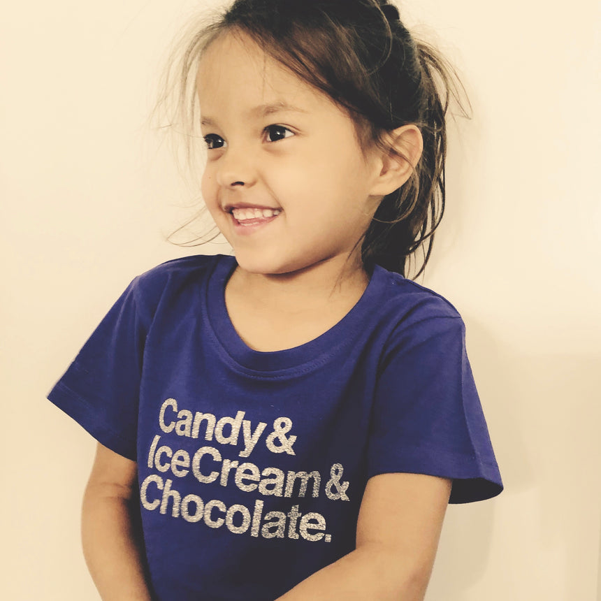 Toddler T-Shirt - Candy & Chocolate & Ice cream - Purple