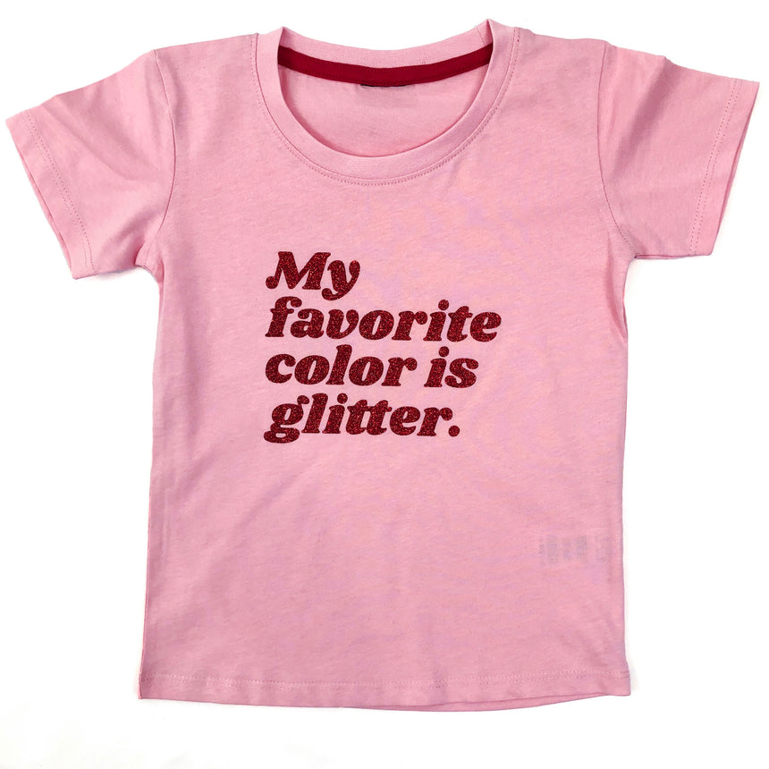 Kid's T-Shirt - My Favorite Color - Pink