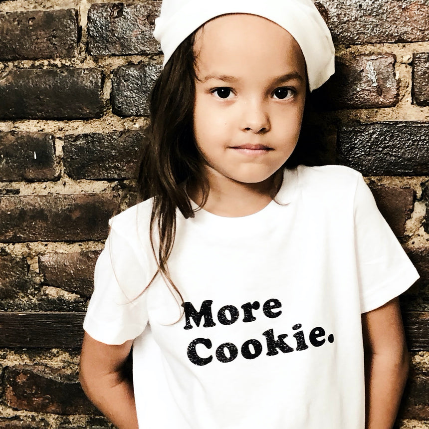 Kid's T-Shirt - More Cookie - White