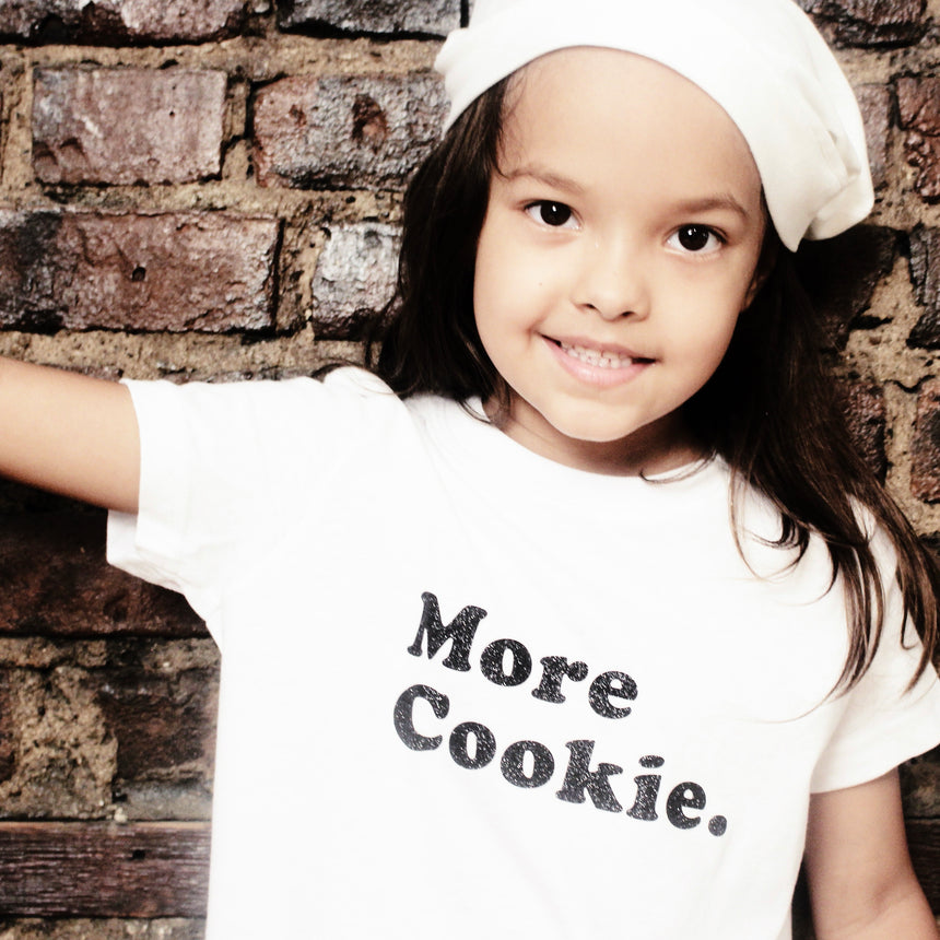 Toddler T-Shirt - More Cookie - White