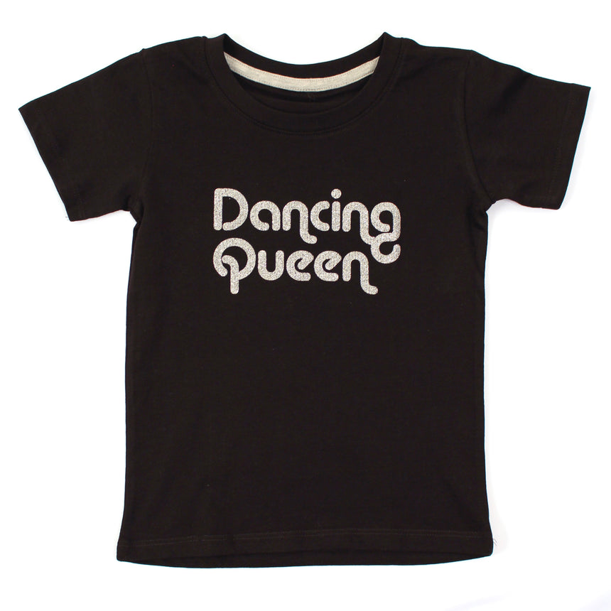 Kid's T-Shirt - Dancing Queen - Black