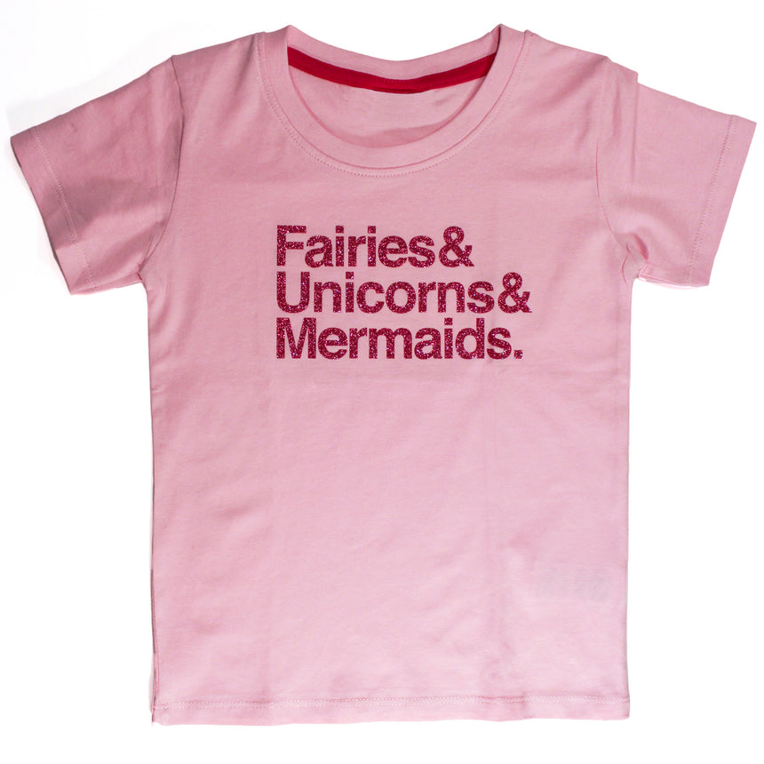 Kid's T-Shirt - Fairies & Unicorns & Mermaids - Pink
