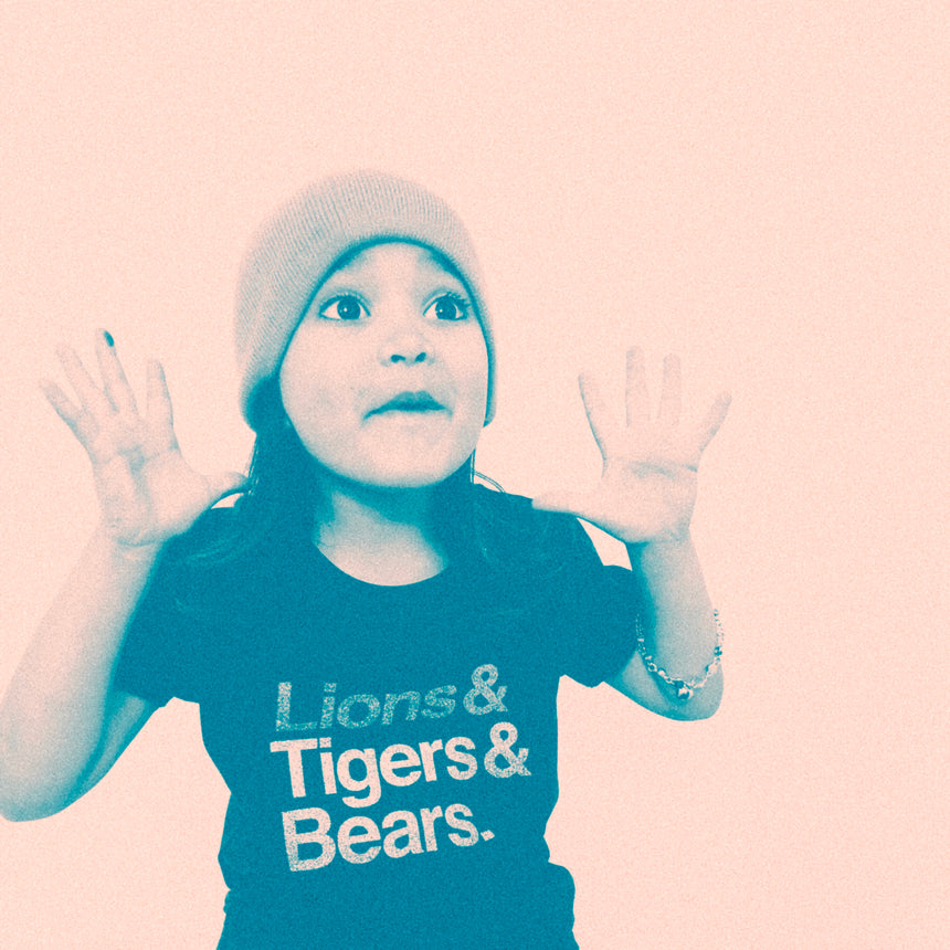 Kid's T-Shirt - Lions & Tigers & Bears - Charcoal