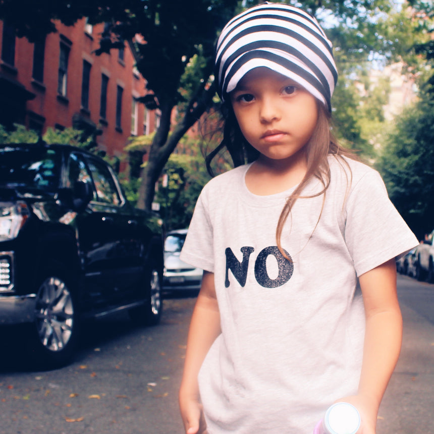 Toddler T-Shirt - No - Gray
