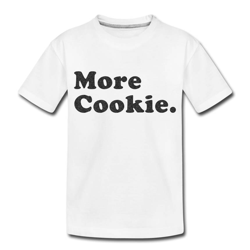 Toddler T-Shirt - More Cookie - White - white