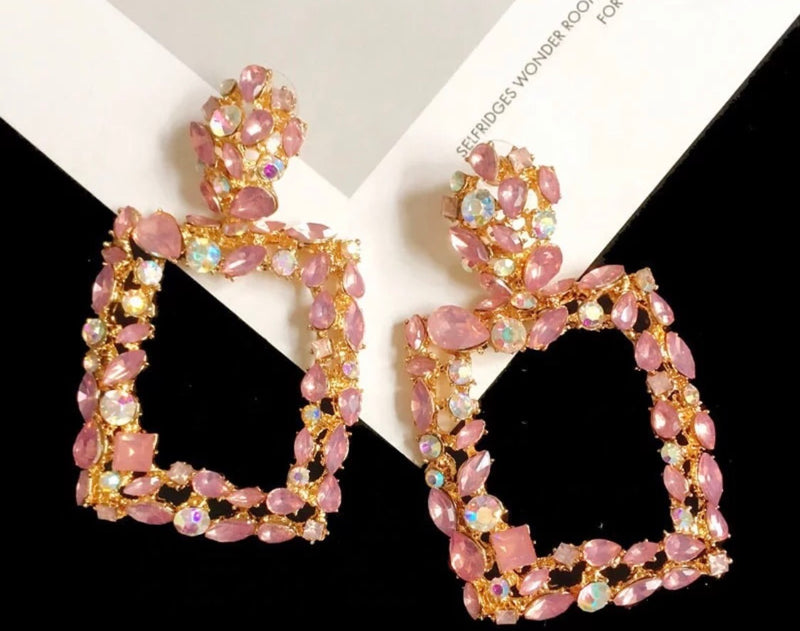 Pink Shimmer Earrings