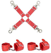 BDSM Plush Restraint Set - Handcuffs and Leg Cuffs with Plush And Set