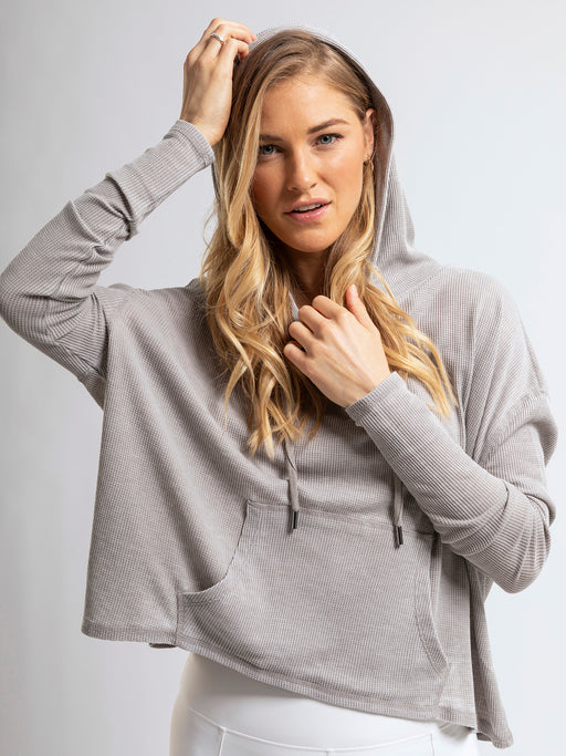 Ideal long sleeve pullover hoodie with front pocket.