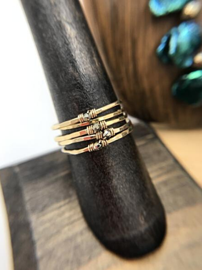 14K Gold Filled Stack Rings by GypsyPosh
