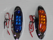 24 VOLT LED CHROME MARKER LIGHT