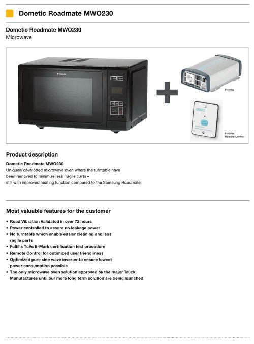 20 LTR MICROWAVE WITH 24 VOLT INVERTER | On Sale Now!