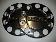 PAIR WHEEL NUT COVERS WITH TRUCK NAME