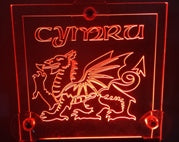 WINDSCREEN LOGO LIGHT WELSH DRAGON