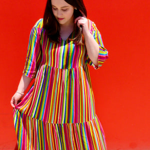 ON SALE! Rainbow Bright Stripes Maxi