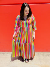 Load image into Gallery viewer, ON SALE! Rainbow Bright Stripes Maxi