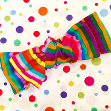 Load image into Gallery viewer, Rainbow Stripe bow headband