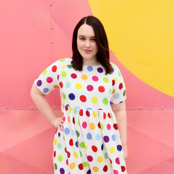 'Spot of Colour' midi dress