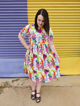 Load image into Gallery viewer, 'Splash of colour' midi dress