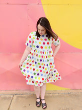 Load image into Gallery viewer, 'Spot of Colour' midi dress