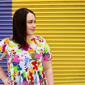 'Splash of colour' midi dress