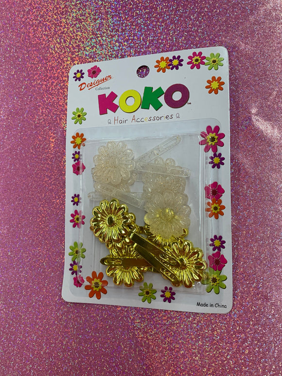 Koko Barrettes (Gold pack)