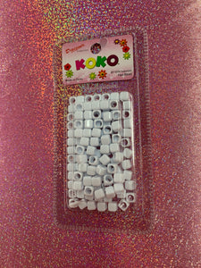 Koko Square Beads (White)