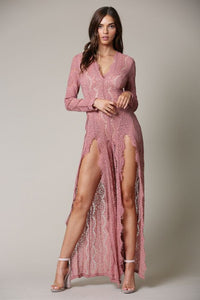 LACE THIGH HIGH JUMPSUIT
