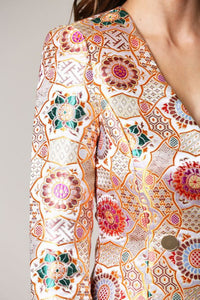 EMBROIDERY BLAZER DRESS